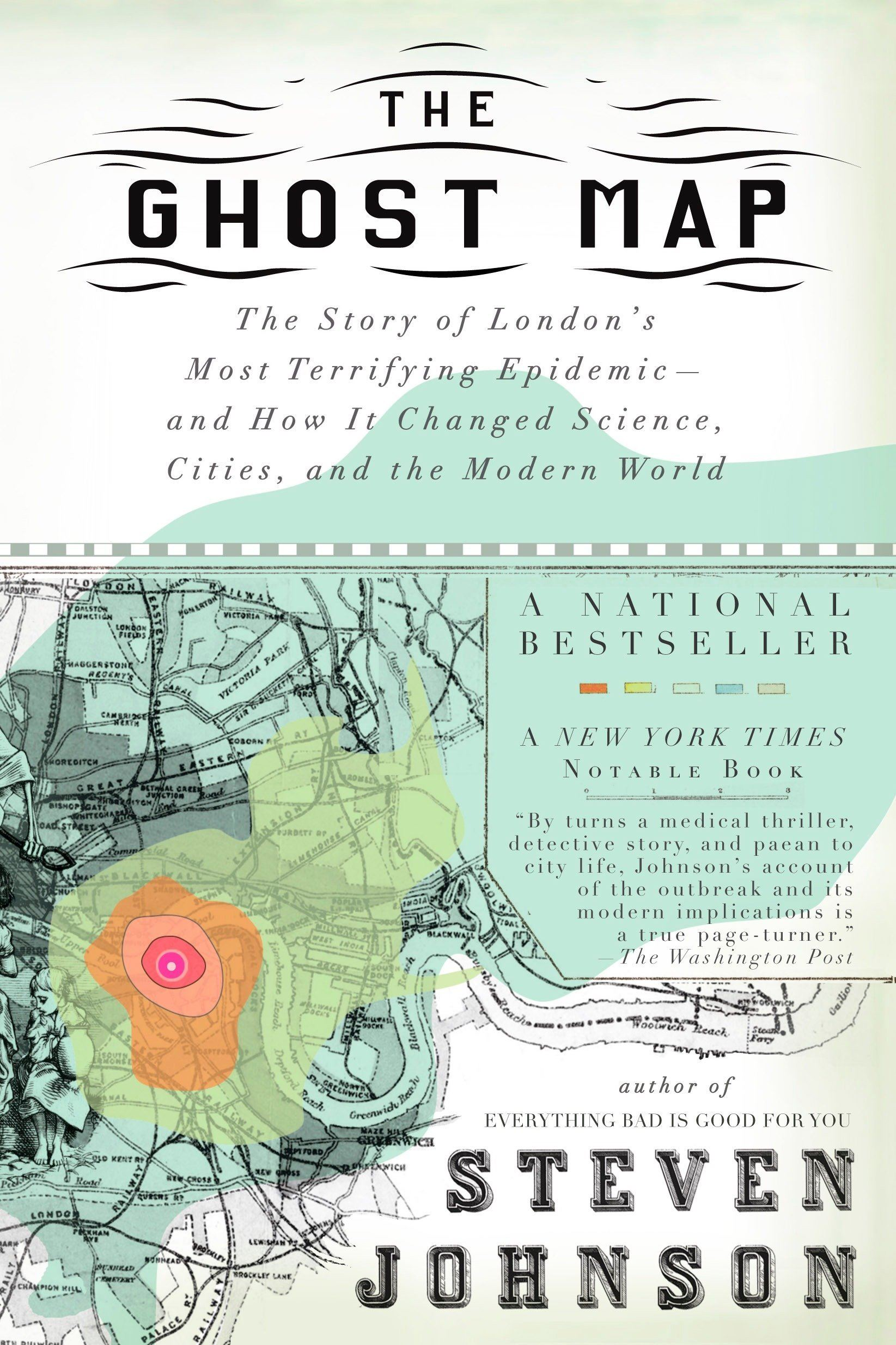 Book cover of Ghost Map.