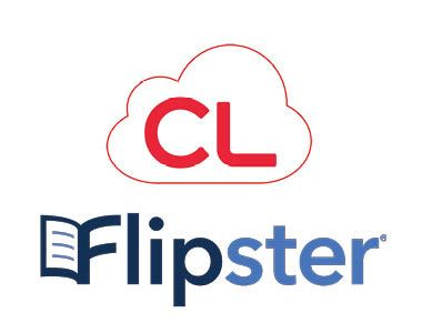 White square with cloudLibrary app logo and the Flipster app logo in the middle.