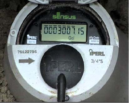 Sensus Water Meter Display